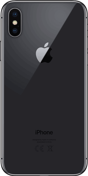 Apple iPhone X Space-Grey Rückansicht
